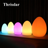 Thrisdar 16 Color Egg Shaped LED Night Light light IP65 Anti fall Outdoor Landscape Garden Restaurant Hotel KTV Bar Table Light