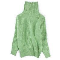 100% козья кашемир ананас зерна толстый витой вязать Женщина модный пуловер свитер Бордо Красный 3 вида цветов ЕС/S 2XL