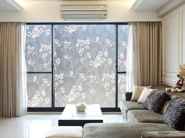 Logful Electrostatic Kitchen Sliding Door Window Stickers Translucent Self  Adhesive Film Bathroom Frosted Privacy Window Film