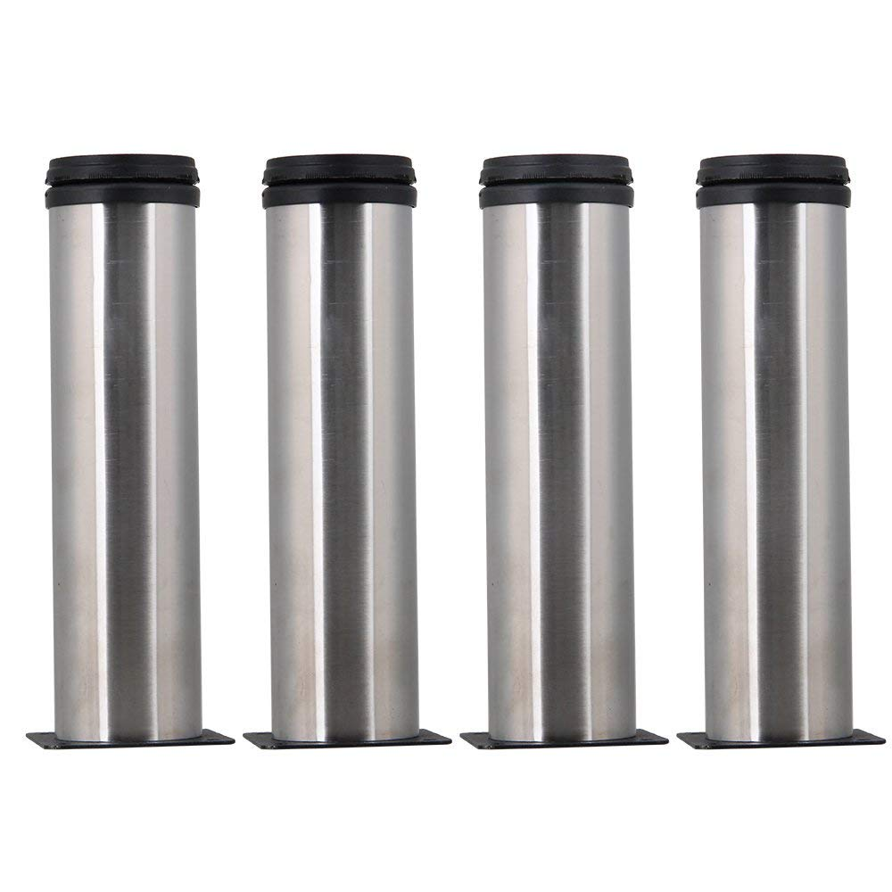 Stainless Steel 2 Inch Kitchen Furniture Cabinet Adjustable Leg Feet Pack Of 4