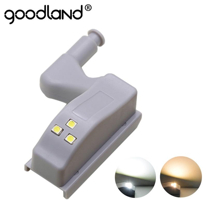 Goodland LED Light Under Cabinet Wardrobe Light Sensor Armario Inner Hinge Lamp For Cupboard Closet Kitchen Bedroom LED Bulb