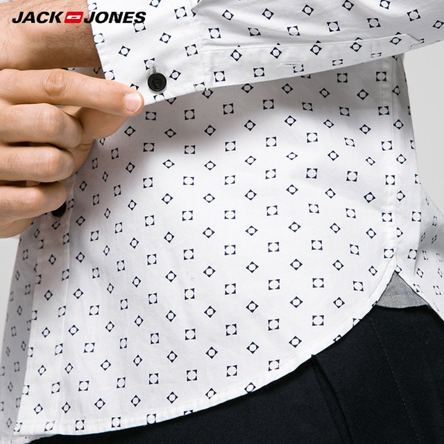 JACKJONES Brand  Men HOT Casual shirts Male slim shirts regular cotton 100%  Male tops| 216105034 2