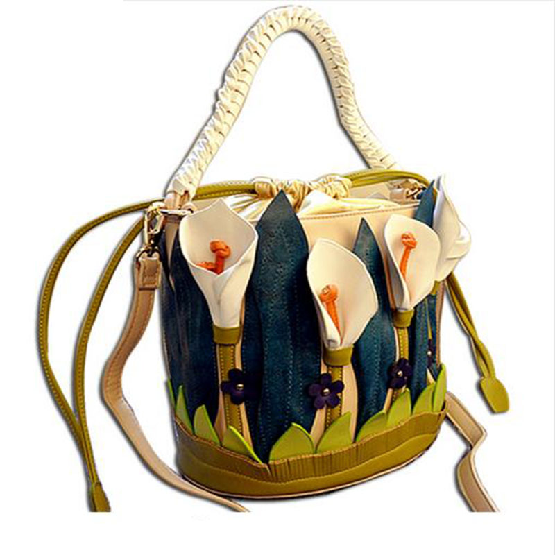 Luxury handbags women bags designer Braccialini Italy Flower Packbag Lady Shoulder Messenger Bag borse da donna