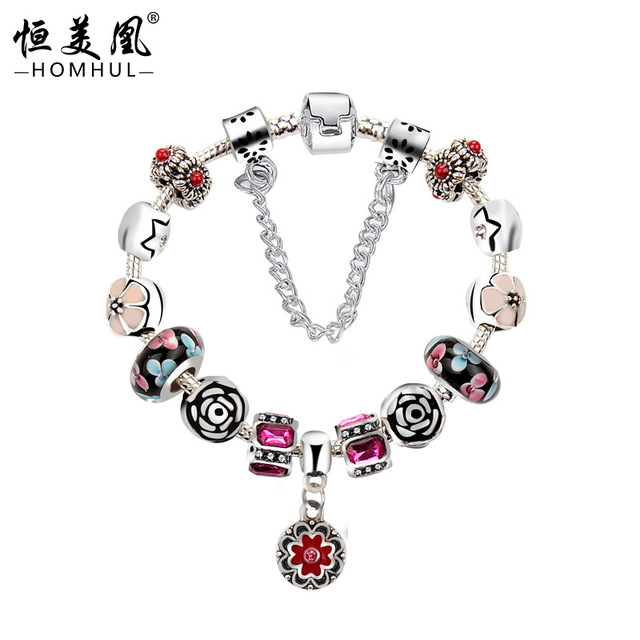 A European manufacturers on behalf of boutique bracelet with crystal jewelry DIY hot aliexpress bracelet jewelry supply