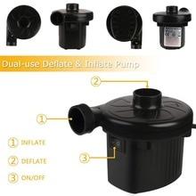 New UK plug Electric Air Pump Two-way Air Pump 220V Portable Air Mattress Pump Universal Electric Pumps