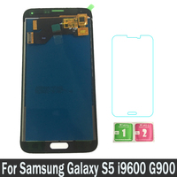 High Quality 100% New LCDs Display For Samsung Galaxy S5 i9600 G900 G900F Touch Screen Digitizer Assembly can Adjust Brightness