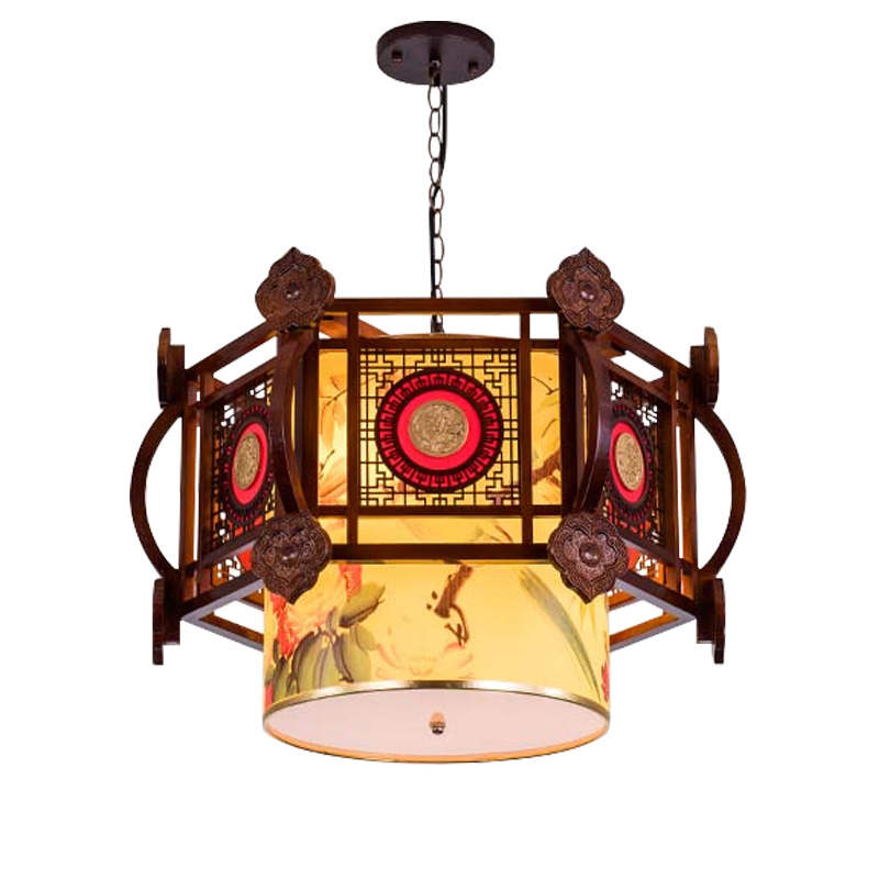 Us 238 0 Chinese Style Pendant Light Retro Living Room Solid Wood Restaurant Lighting Led Sheepskin Lamp Wl04261155 In