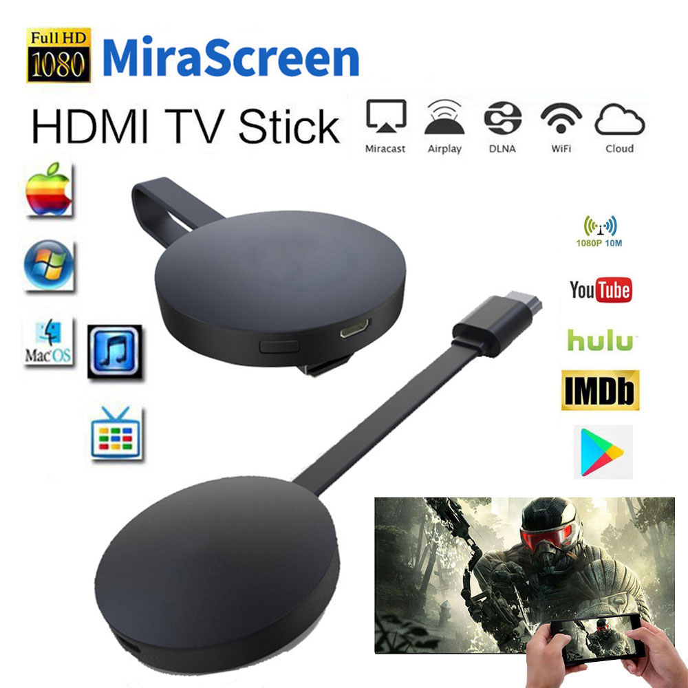 Miracast Android TV Stick MiraScreen WiFi TV Dongle Receiver 1080P Display DLNA Airplay Media Streamer Adapter G7 PK Chromecast