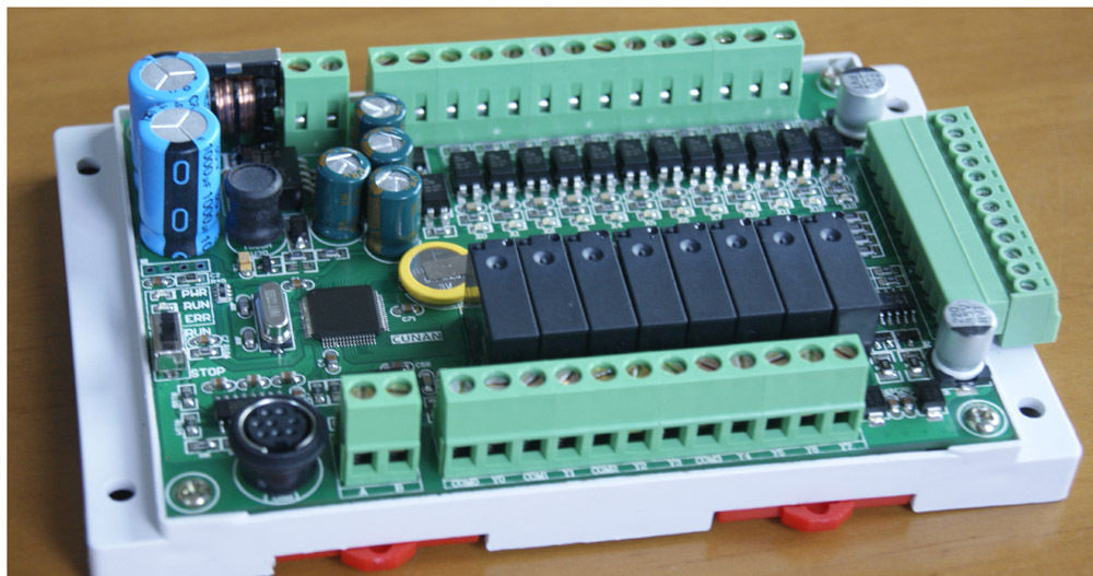 FX1S-20MR 4AD2DA / FX1S 20MT 4AD2DA 20MA Out Module board Clock Modbus 24VDC for Mitsubishi PLC fx1s 22mr 4ad plc controller board 12di 10do 4ai 4 analog input rs484 modbus compatible