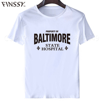 2017 T Shirt Western Style Short Baltimore State Hospital Hannibal Silence Men Printing O Neck Shirt