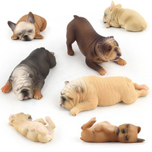 Toys & hobbies french bulldog dolls anime figure animals action educational toys for children boys christmas gift