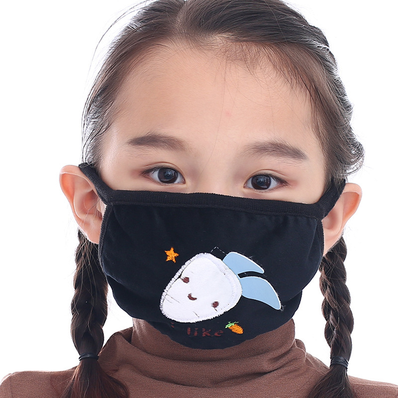 Washable Children Dustproof Anti Pollution Mask Respirator Reusable Masks Cotton Unisex Kid Mouth Muffle Keep Warm Mask