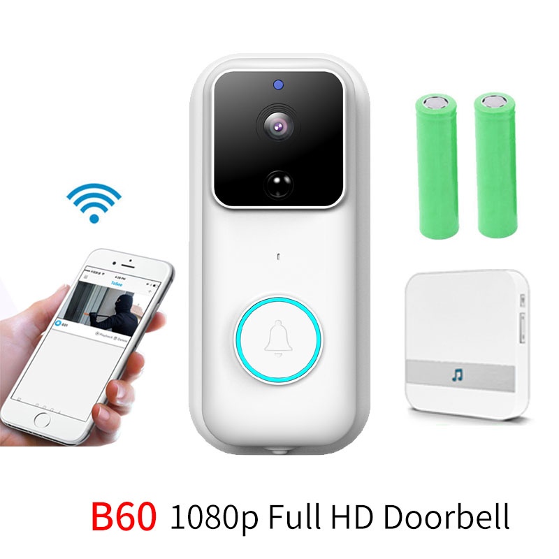 Anytek B60 1080P Full HD Wireless Intercom Night Vision B60 Cloud Storage WIFI Security Camera Smart Video Door Chime Doorbell