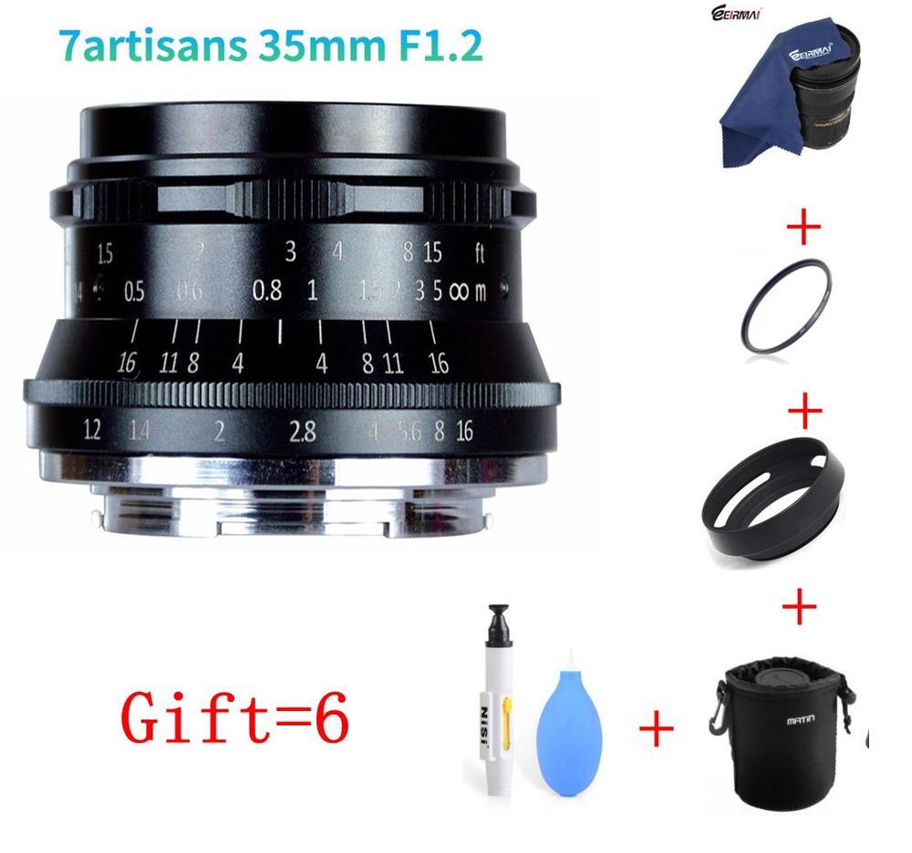 7artisans 35mm F1 2 Prime Lens for Sony E mount for Canon EOS M for Fuji