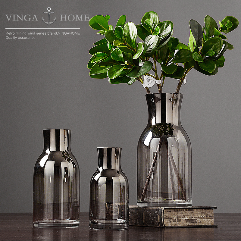 Modern vase glass home decoration ornaments living room creative decorations