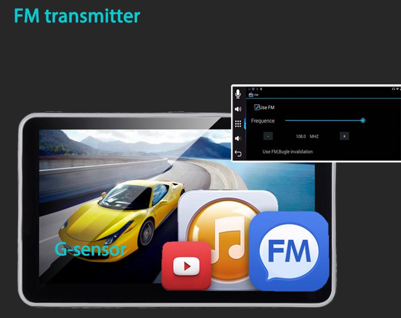 GPS SAT NAV with FM transmitter and G-Sensor