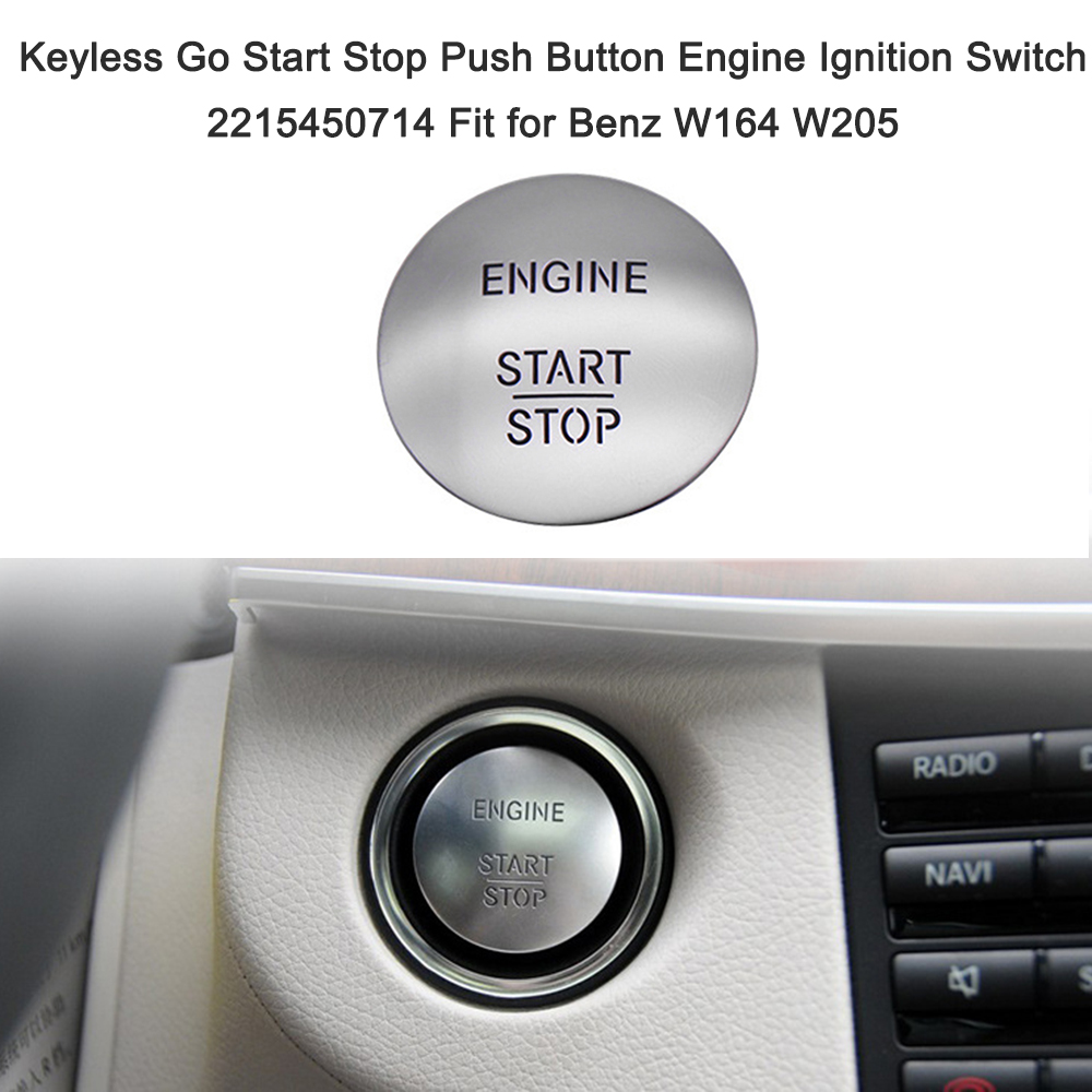 Car Engine Start Stop Keyless Engine Start Alarm System Push Button Remote Starter Stop Auto Car Accessories for Benz W164 W205