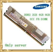 Memória ddr2 2 do servidor de samsung 2 gb 4 gb 8 gb 667 mhz PC2-5300F ecc fbd FB-DIMM ram tamponado inteiramente 240pin 5300
