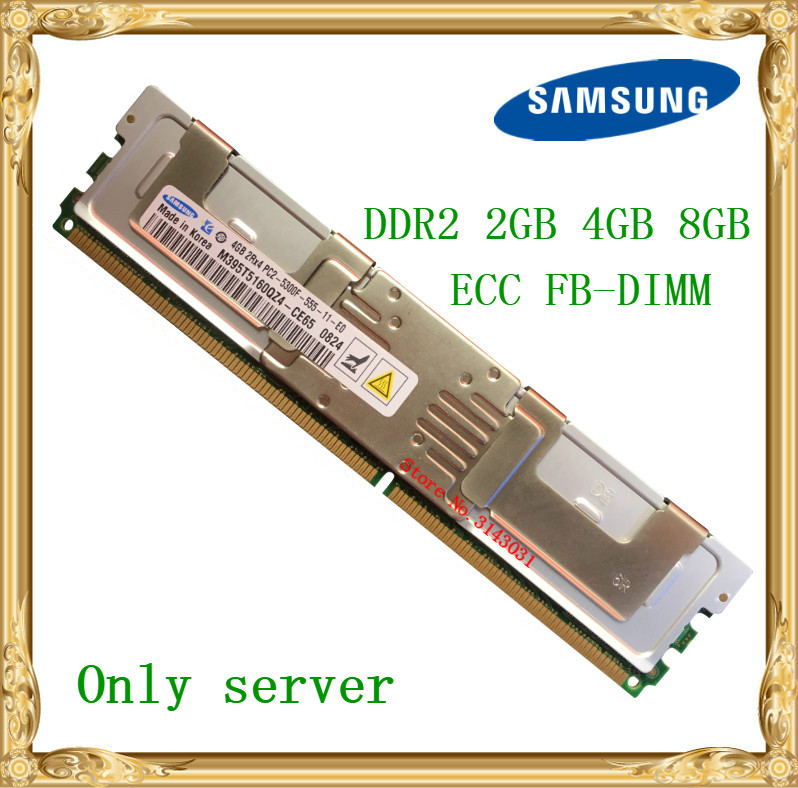 Samsung Serveur mémoire DDR2 2 GB 4 GB 8 GB 667 MHz ECC FBD PC2-5300F FB-DIMM À Fully Buffered RAM 240pin 5300