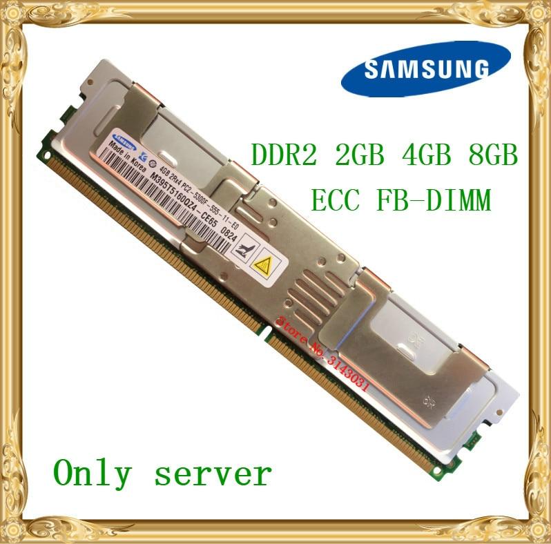 Samsung memoria de servidor DDR2 2 GB 4 GB 8 GB 667 MHz PC2-5300F ECC FBD FB-DIMM búfer completo RAM 240pin 5300