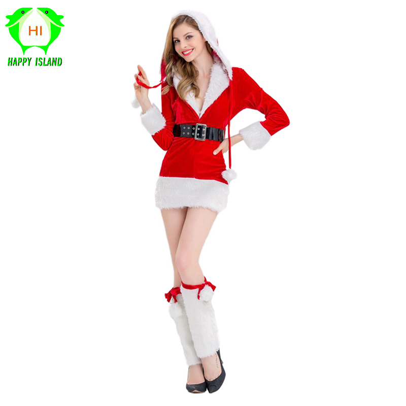 Women Christmas Dresses Red Hooded Dress Girls Party Costumes Christmas Cosplay Costume Festival Dress Up For New Year Costumes