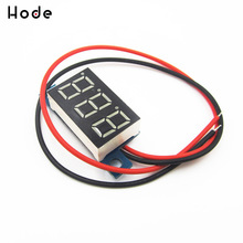 0.36 Inch DC 3.3V - 17V Mini Digital Voltmeter Voltage Tester Meter LED Screen Electronic Parts Accessories Digital Voltmeter 3 digit blue led digital voltmeter meter module 3 3 17v