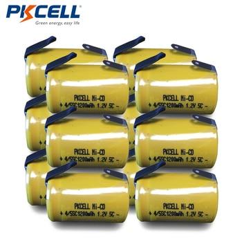 12 sztuk PKCELL 4/5 SC batteria 4/5 bateria SubC akumulator 1.2V 1200mAh ni-cd 4/5SC baterie