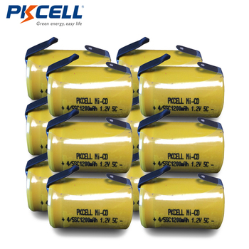 12pcs PKCELL 4/5 SC batteria 4/5 SubC battery Rechargeable Battery 1.2V 1200mAh Ni-Cd 4/5SC Batteries
