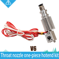 3D Printer Assembled All Metal Long Distance Feeding Integrated E3D V6 Anti Pull Throat Nozzle Hotend
