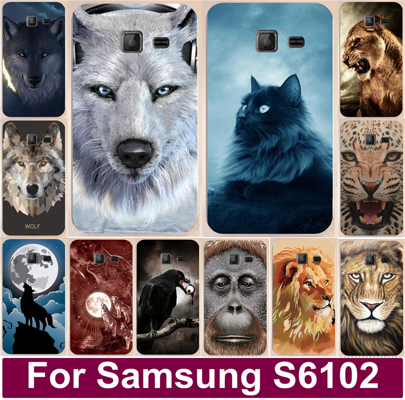Brilliant Colorful Animal Cellphone Cover Case New Style Skin Shell For Samsung Galaxy Y Duos S6102 S6102 E S6108 6102 6102E