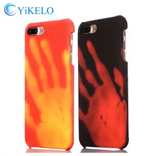YiKELO 2017 NEW hot hard PC Physical thermal discoloration cover Back Case for iphone 6 6s 7 plus Thermal Sensor capa Coqua