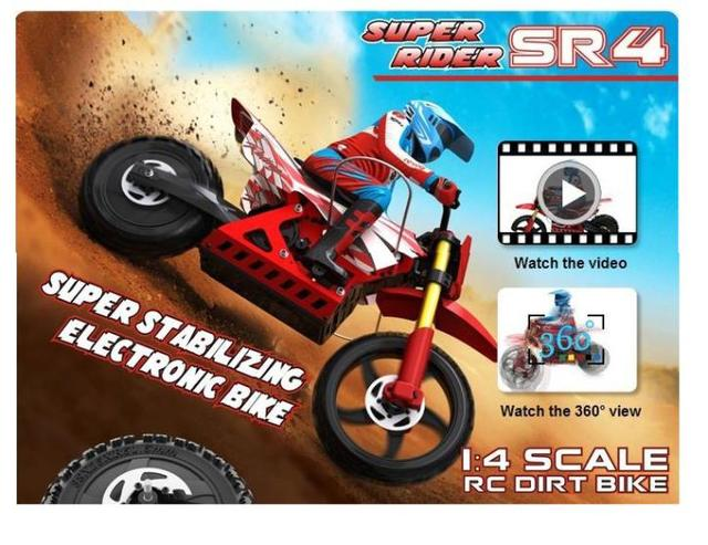 Free Shipping Brushless Skyrc Super Rider Sr4 1 4 Scale Rc Bike