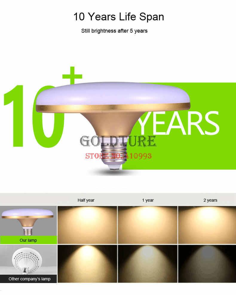 Led UFO E27 screw three household lighting bulb power plant energy-saving  bulb UFO gold