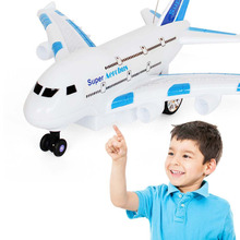 A380 Creative Funny Children Electric Remote Control Airplance Kids Outdoor Playing Super Lightweight Airplane With Light New