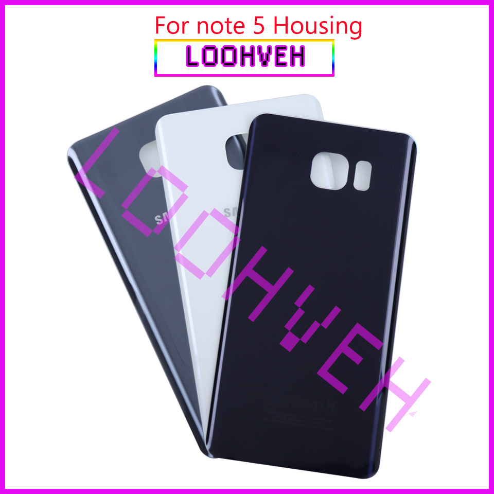 For Samsung Galaxy Note5 Note 5 Back Battery Cover 3D Glass Housing Cover For Samsung Note 5 Door Rear Case Replacement