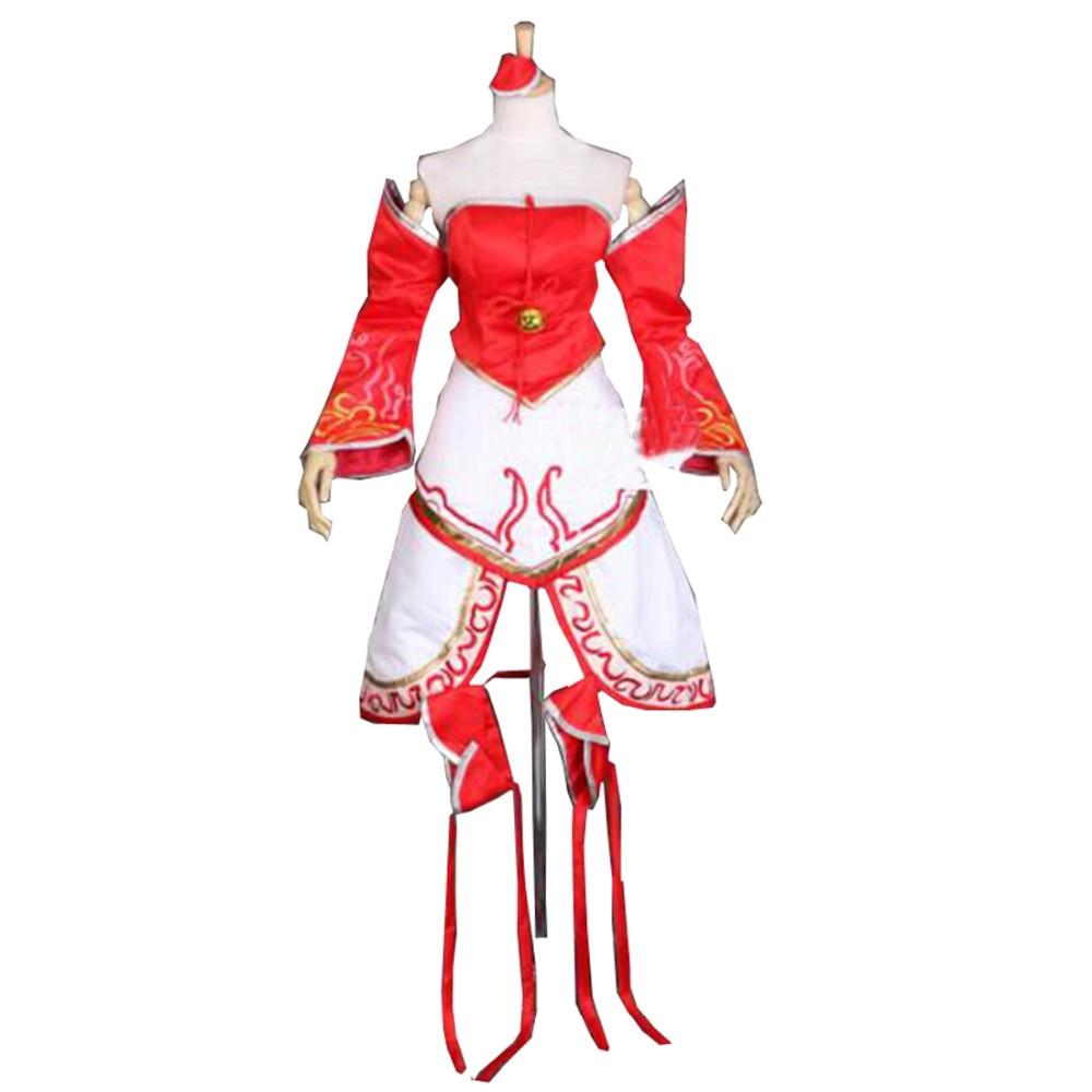 2016 The Nine-Tailed Fox Cosplay Dress LOL Ahri Cosplay Costume