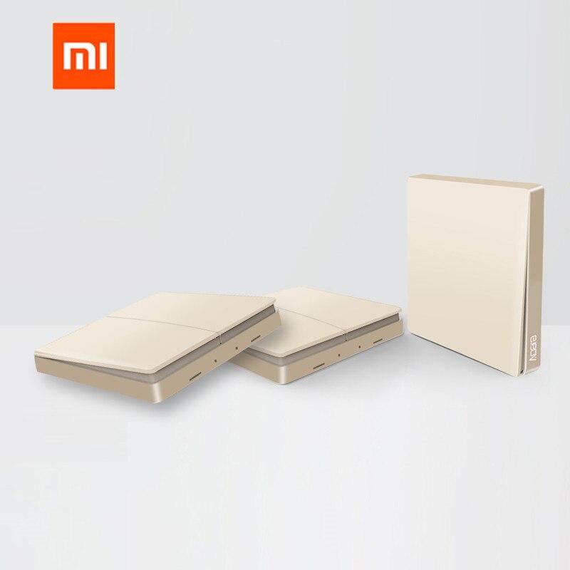 Original Xiaomi Aqara Smart Light Remote Control Switch Gold Version ZigBee Wireless Key Wall Switch For Mijia Mi Home APP