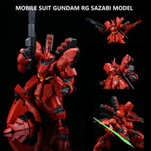 цена на Japaness Bandai Original Gundam Model RG 1/144 SAZABI Justice Freedom 00 Japanese Model Robot Unchained Mobile Suit Kids Toys