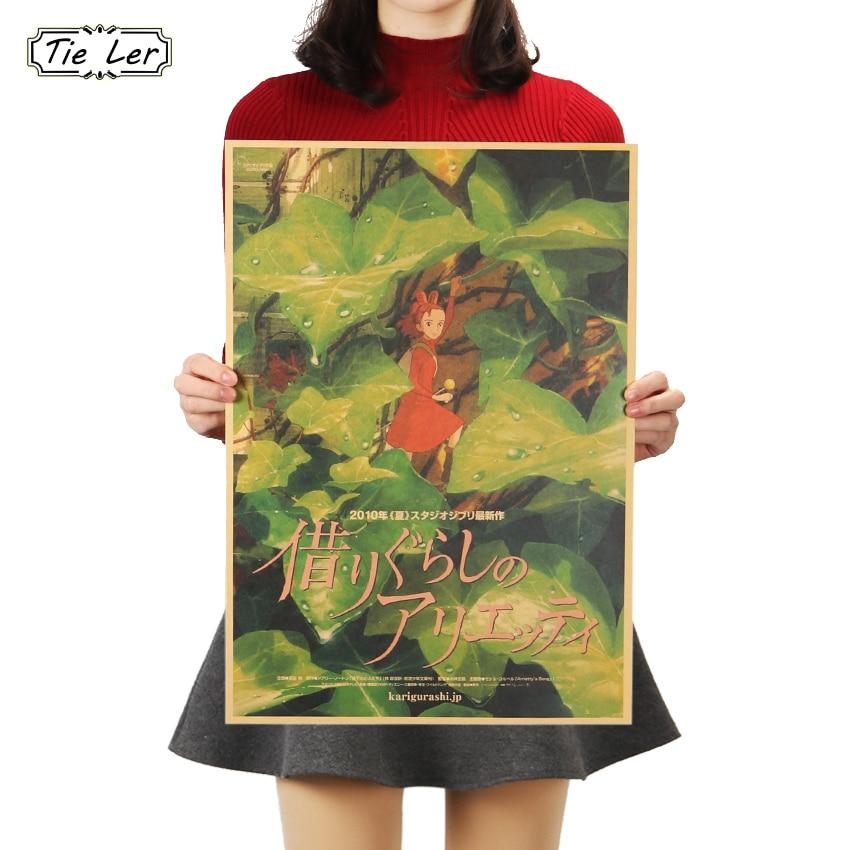 TIE LER Golden Code Anime Poster Animation Poster Classic Vintage Kraft Paper Decor Wall Sticker 51.5x36cm