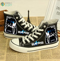 Men casual canvas shoes plimsolls Japanese anime BRS print shoes gumshoe platform cartoon shoes