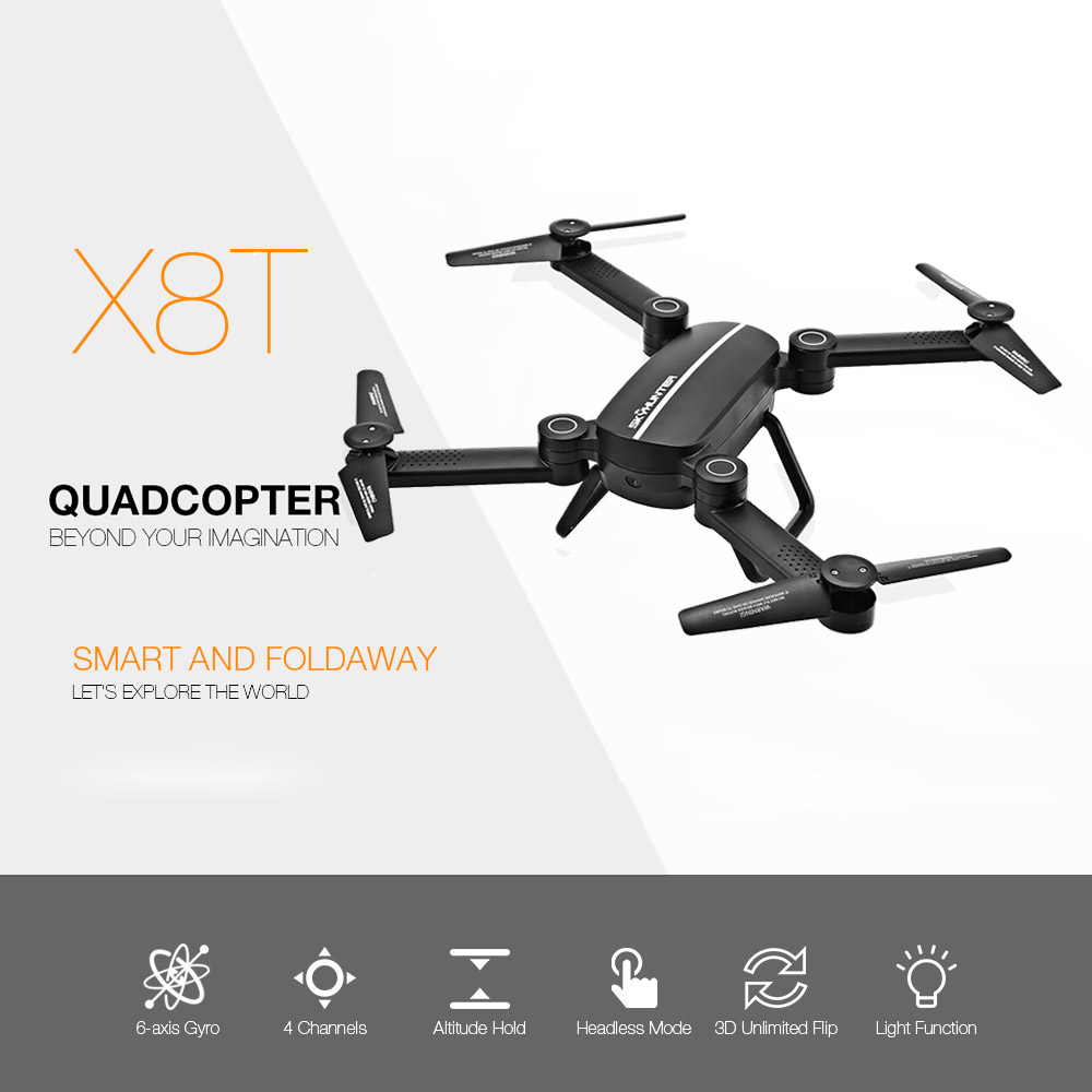 Mini Drone X8 Hunter Rc Drone Fpv Helicopters Camera Remote Control Dron 2.4G 4 Axis Rc Helicopter With WIFI HD Quadcopter Toys rc drone hd camera 2 4g 6 axis gyro remote control s9 s8 aircraft helicopter drones white black dron vs xs809w