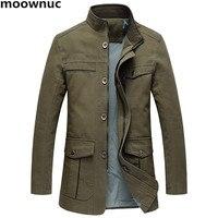 2018 New Mens 100% cotton casual Blazer trench coat full Size XL 5XL Classic coats Blazers Men thicken Jackets Warm Male Jacket