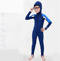 Fashion Fabric Girl Boy One piece Swimsuit Wetsuits Lycra Surfing Womens surf clothes neoprene Kids Swimming Suit Scuba Diving