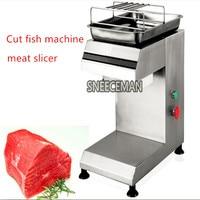 Automatic cut fish machine pickled fish oblique fillet machine black fish slicing machine meat slicer