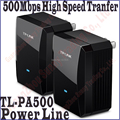 TP-LINK TL-PA500KIT AV500 Mini Adaptador de linha de Energia de até 500 Mbps, Adaptador de Rede Ethernet Powerline, par de TL PA500 Plug and Play