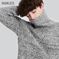 Markless Winter Turtleneck Christmas Sweater Men Brand Clothing Fashion Casual Thick Warm Knitted Sweater Men Pullovers