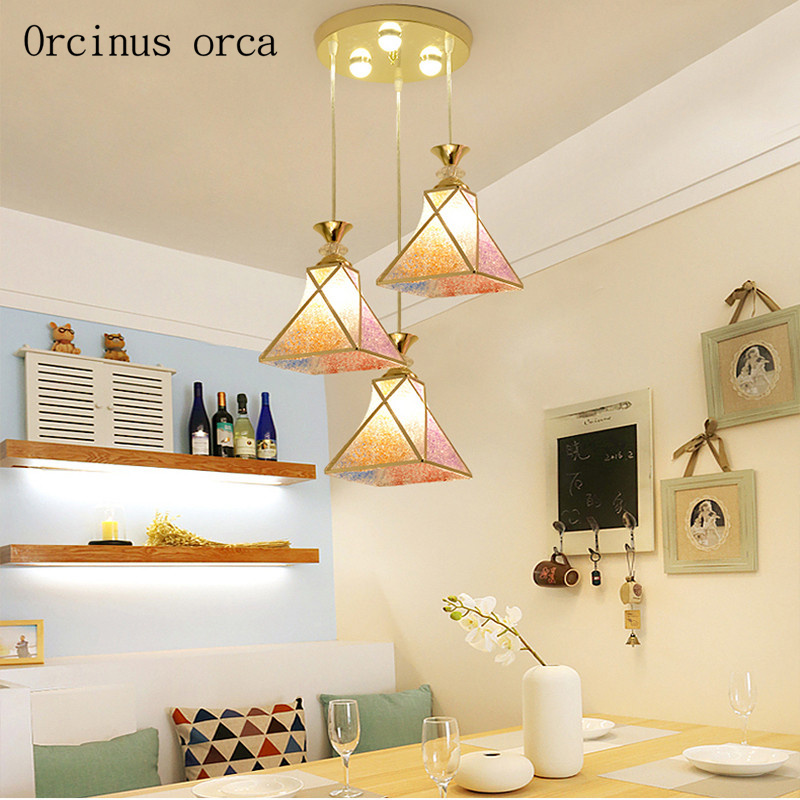 Dining room lamp chandelier three simple modern single head table lamp creative bedroom light corridor lounge LED