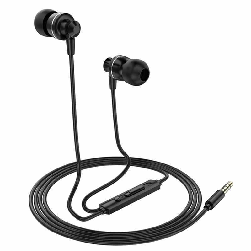 PTM D11 super bas wodoodporna słuchawka Sport redukcja szumów regulacja głośności zestaw słuchawkowy Metal