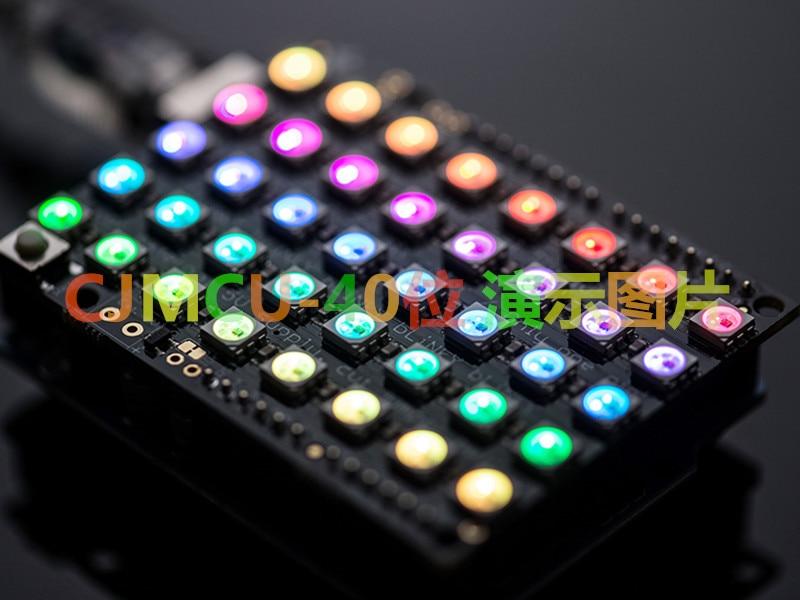 CJMCU- 40 5*8 WS2812B 5050 RGB LED built-in driver development board color lights xilinx fpga development board xilinx spartan 3e xc3s250e evaluation board kit lcd1602 lcd12864 12 modules open3s250e package b