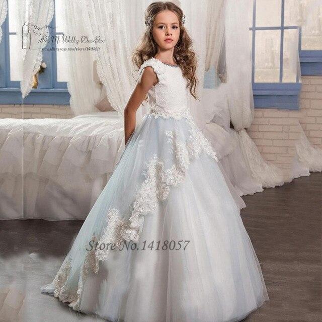 0nettes Kleider Pageant Graduierung Us121 Kleid Mädchen Lange Kinder Abendkleider Erstkommunion Für Spitze Blumenmädchen 2EWH9ID